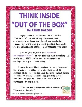 "Think Inside ""Out of the Box"" Feelings Posters"