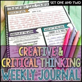 Creative Critical Thinking Weekly Journal Full Year BUNDLE | Distance Learning