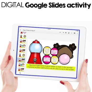 Think It or Say It Digital Activity for Elementary School Counseling