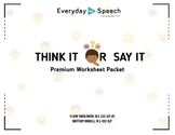 Think It or Say It Premium Printable Lesson