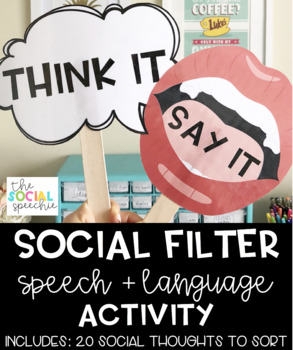 Think It or Say It Social Filter Activity