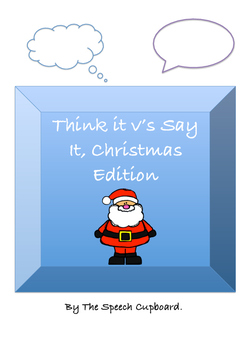 Think It v's Say It Christmas Edition