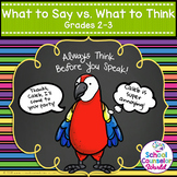 Think It vs. Say It, Grades 2-3