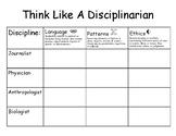 Think Like A Disciplinarian Graphic Organizer - Genetics