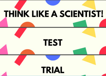 Think Like A Scientist- WORD WALL