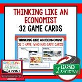Think Like An Economist GAME CARDS (Economics and Free Enterprise Test Prep)