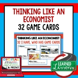 Think Like An Economist GAME CARDS (Economics and Free Ent