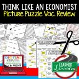Think Like An Economist Picture Puzzle, Test Prep, Unit Review, Study Guide