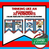 Think Like An Economist Word Wall Pennants (Economics and