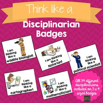 Think Like a Disciplinarian Badges