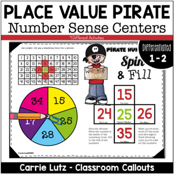 Differentiated Wipe Off Numeracy Stations - Pirate Themed