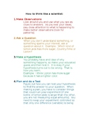 Think Like a Scientist Poster