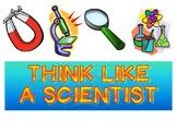 Think Like a Scientist bulletin board