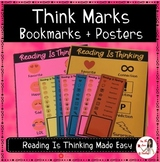 Reading Think Marks Bookmarks and Posters