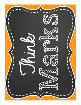Think Marks Classroom posters chevron