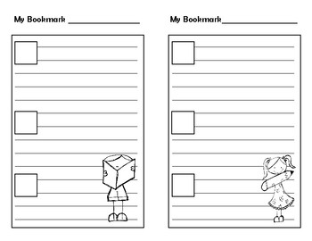Think Marks Reader's Response Bookmark