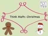 Think Math: Christmas {Free}