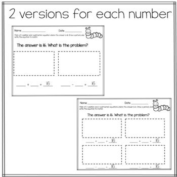 Think Math Spring Story Problems