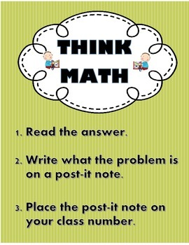 Think Math: Word Problem Center