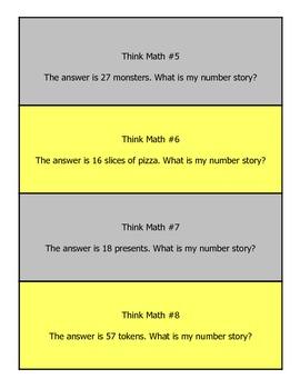 Think Math Word Problems