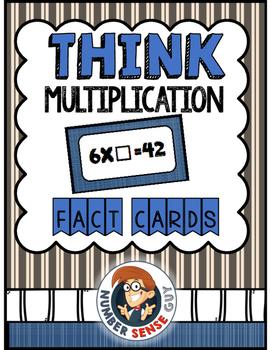 Terrific Think Multiplication Cards