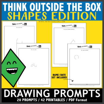Think OUTSIDE the Box Drawing Prompts - SHAPES