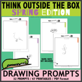 Think OUTSIDE the Box Drawing Prompts - SPRING
