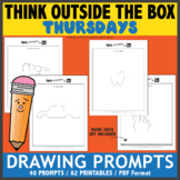 Think OUTSIDE the Box Drawing Prompts - THURSDAYS