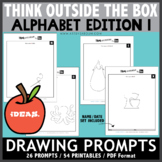 Think OUTSIDE the Box Drawing Prompts - ALPHABET EDITION 1