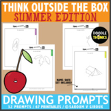 Think OUTSIDE the Box Drawing Prompts - SUMMER