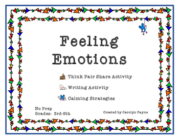 Think Pair Share Activity:  Feeling Emotions