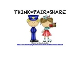 Think  Pair Share Chart for Students