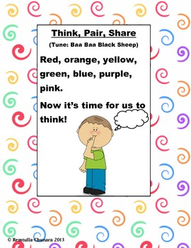 Think Pair Share Color Poem
