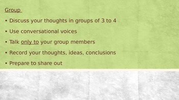Think Pair Share Guidelines Powerpoint