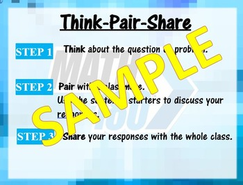 Think-Pair-Share Math 180- Classroom Routine
