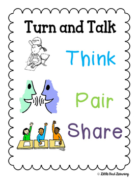 Think Pair Share Poster Freebie By Little Bird Learning Tpt