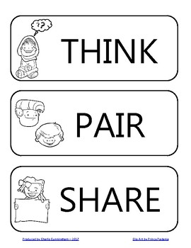 Think-Pair-Share Poster and Worksheet by Charlis Cunningham | TpT