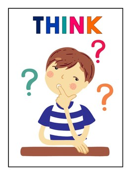 Classroom posters: Think, Pair, Share.