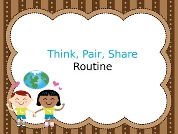 Think Pair Share Routine