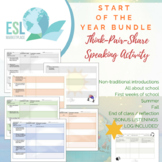 Think-Pair-Share Speaking Activities - Start of the Year Bundle