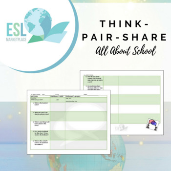 Think-Pair-Share Speaking Activity - All About School