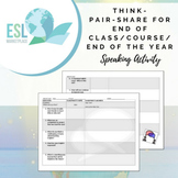 Think-Pair-Share Speaking Activity - End of Class / Class Reflection