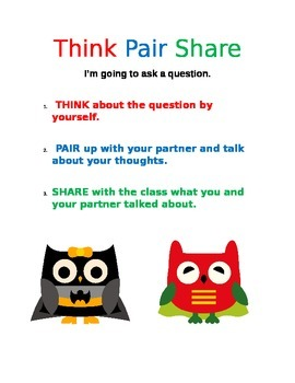 Think Pair Share Super Owls