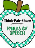 Think Pair Share for learning the Parts of Speech
