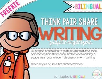 FREEBIE Think Pair Share Writing Organizers {Bilingual}