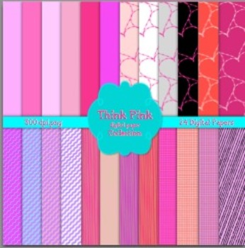 Think Pink Digital Paper Pack