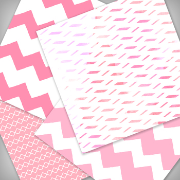 Think Pink Digital Paper Pack - 12x12 - High Resolution .JPG files