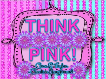 Think Pink~Neon Clip Art Letters, Numbers, Symbols