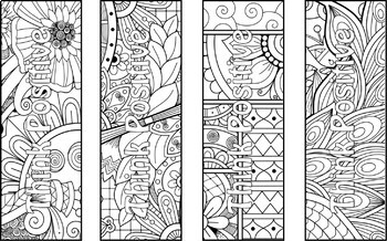 50 Think Positive Coloring Bookmarks- Positive Affirmations and Color Therapy