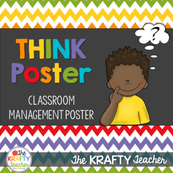 Classroom Management Colorful Polkadot Think Poster